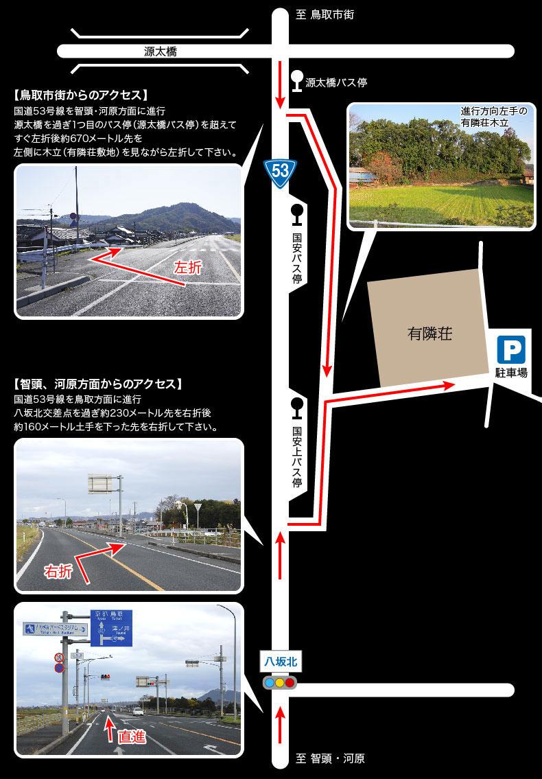 鳥取市街からのアクセス